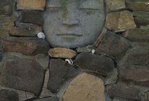 kameny v zahradě