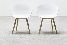 White and oak chair