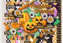Pumpkin Carving / http://scraporchard.com/market/Pumpkin-Carving-Digital-Scrapbook-Kit.html