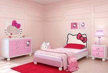 Hello kitty bedroom / by Bill Ladika