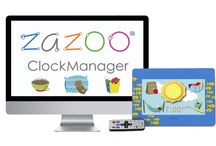 MyZAZOO - ZAZOO ClockManager / The ZAZOO PhotoClock™ is the answer for late night owls and early risers, providing an engaging experience to keep kids in bed. It helps personalize daily routines and helps kids build healthy habits.   The ZAZOO ClockManager™ is the desktop center for customizing and organizing ZAZOO PhotoClock media. http://fatredcouch.com/products/zazoo-clock-manager/