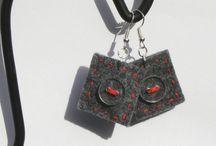 Things I created / Marudowe twory / Maruda filcuje czyli bardzo kolorowa biżuteria MarudaFelting - very colourful jewellery