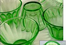 depression green glass and other colours too..... / had to change this name as all other coours came onto the page as well, i just love the glass and the history behind it, why it became so popular in such a difficult time!