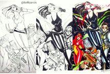 Superheroes / my drawing