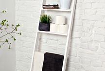 DIY - bathroom towel ladder