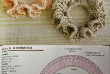 elasticos de cabelo em Crochê