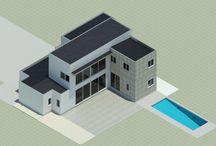 Casa Mediteranea Isotermica 2014 / Proyecto casa Isotérmica, Rancagua  180 m2  - Metalcon – EIFS -Piedra