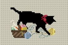 cross stitch black cat