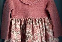 vestidos de tecido e lã