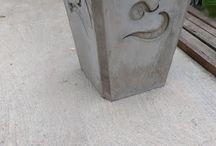 maceta de concreto