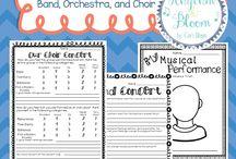 Choir worksheets