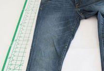 patroon van bestaande jeans maken