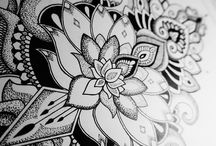 Tatoo project Black & white + dotwork