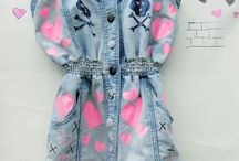 Customised fashion / Pastel goth, kawaii, punk and quirky customised clothing.