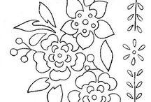 disegni fiori da ricamo