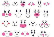 Getekende gezichtjes