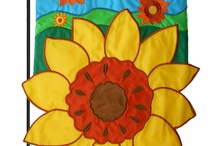 Sunflower house flags and garden flags