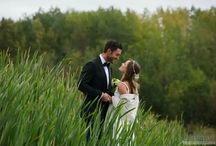 // forest and rural outdoor wedding photos //