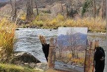 (2) Artists using Open Box M! / Inspiring plein air painting!