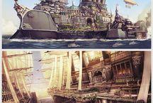 Steampunk - Boats & Aircraft