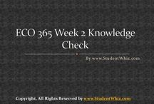 ECO 365 WEEK 2 KNOWLEDGE CHECK
