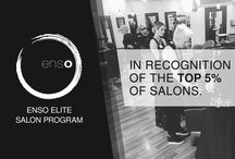 Enso Salon Program / We are proud to introduce the ensō brand as the ultimate symbol of our commitment to our common passion for the Art of Styling.