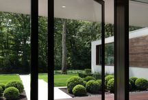 Mid Century Modern Windows / Plain Glass Unobstructed Windows Intact Clerestory Windows