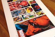 Comic Art / A collection of art designed and crafted from comics, comic fact files and collector's items.