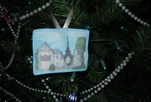 fabric ornaments by fabricatedframes.com / by artist / inventor Kristie Hubler fabricatedframes.com - WASHABLE FABRIC crafts