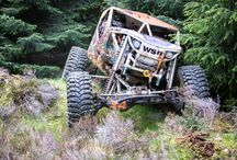 OFF-ROAD / What a motor and tires were made for -- gettin' dirty, lost and upside-down. Go crazy.