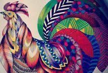 Gallery Millie Marotta / Desenhos coloridos dos livros de Millie Marotta. Reino Animal, Tropical Wonderland, Wild Savannah