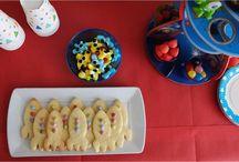 Anniversaire enfant thème espace / Des idées pour la Sweet Table et l'animation (chasse au trésor, pinata) d'un anniversaire d'enfants sur le thème espace avec fusées et petits martiens !
