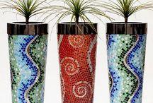 Garden pots mosaic