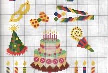 Cross stitch Birthday.