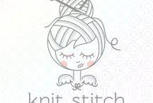 knitting / boutique logo