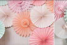 PAPER FANS // HOCHZEITSDEKO / by ♡ weddstyle.de ♡ Hochzeitsdekoration