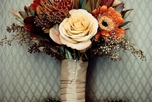 Fall inspired bridal bouquets / Wedding flowers in autumn or fall color palettes. / by Nancy Upton Downard