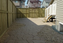 Patios / Paving stone and poured concrete patios are gorgeous and functional. They are a great no-maintenance way to spruce up the back yard and increase property value. Choose any style and color of concrete or stone you want. Stamped concrete is perfect for those who like the rugged uneven look and paving stones will appeal to those who like straight or consistent patterns. Either way the result is beautiful and will last a long time.