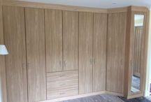 Wood Panel Fitted Corner Wardrobe