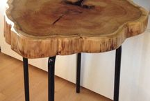 Tables tree trunk