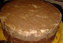 bolos de creme de banana com chocolate