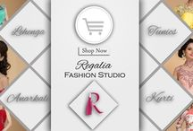 Fashion Studio / Regalia by Deepika is a unique line of designer wear dresses, developed keeping the focus always on the bride–who demand to look gorgeous yet unpredictable,. the Regalia studio at 51 A, Uday Park, New Delhi is a single point for all Bridal Trousseaux, Wide range of occasion and ethnic wear such as Anarkali suits and nouveau saris