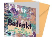 KoolMade wenskaarten / Diverse unieke en artistieke wenskaarten met mixed media achtergronden en mooie teksten. www.koolmade.nl