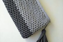 Crochet clutches/bags