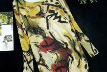 Vestidos Stars / Vestido Pulôver Comprimento cima do joelho Silhueta reta Decote Redondo Mangas Compridas Estilo Casual Material: 65% algodão, 35% poliester Lã fina Cintura Solta Mangas Compridas Tamanho M