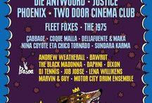 Music Festivals Posters | Lineups / Festival posters, lineups, festival lineups, design, graphic design, music, music festivals