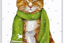 коты в рисунках