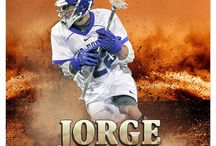 Lacrosse sports Photography Photoshop Template
