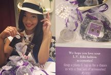 Lavender / L.V.Kiki will deliver a box with 4-6 carefully curated accessories right to their door every month for them to keep.  Each box is a surprise combination of trendy jewelry, shoes, scarves, gloves, hats, legwear, belts, and hair accessories.