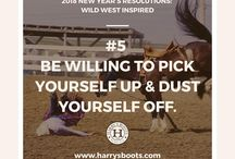 2018 New Year's Resolution: Wild West Edition / Harry's Boots is ringing in the New Year with Resolutions for the wild western at heart.